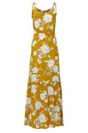 Mustard Floral Maxi by Louna