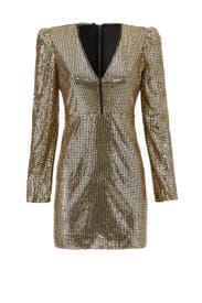 Gold Sequin Sydney Dress by Rebecca Minkoff