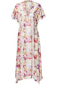 Abstract Floral Tie Maxi by Dina Agam