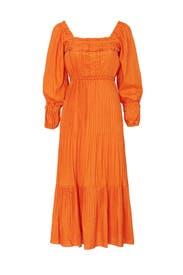 Pleated Prairie Dress by Nicholas