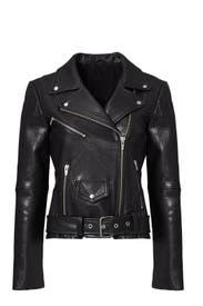 Black Jayne Classic Moto Jacket by VEDA