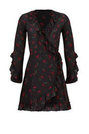 Cherry Love Wrap Dress by The Kooples