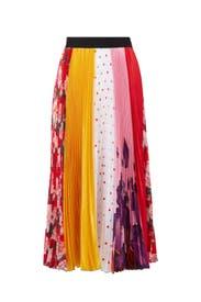 Patchwork Midi Skirt by MSGM