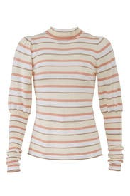 Striped Puff Sleeve Sweater by See by Chloe