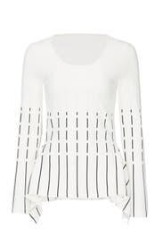 Stripe Peplum Sweater by Prabal Gurung Collective
