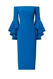 Blue Selena Slit Dress by Milly