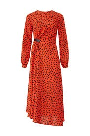 Lawton Polka Dot Dress by Hunter Bell