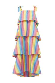 Multi Stripe Tiered Maxi by MDS Stripes
