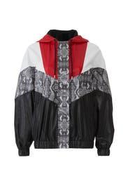 Snakeskin Colorblock Jacket by MSGM