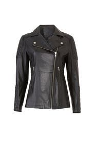 Long Black Leather Jacket by Samantha Sipos