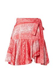 Printed Wrap Skirt by AMUR
