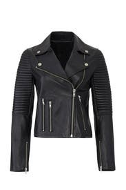 Basic Ribbed Leather Jacket by Samantha Sipos