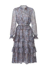 Blue Floral Tiered Dress by Slate & Willow