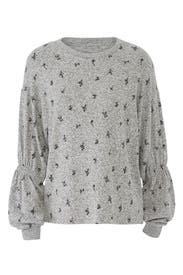 Avah Ruched Sleeve Pullover by B Collection by Bobeau