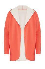Orange Hugo Hooded Cardigan by DREYDEN