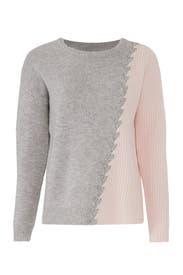 Grey And Pink Dante Sweater by Tabula Rasa