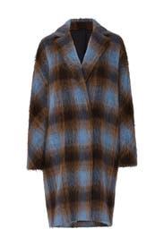 Blue Plaid Coat by VINCE.
