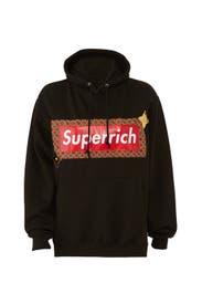 Black Superrich Hoodie by Nil & Mon