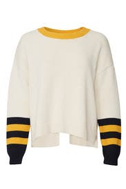 Varsity Split Back Sweater by 525 America