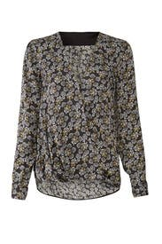 Faux Wrap Floral Blouse by Slate & Willow
