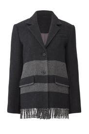 Grey Fringe Hem Jacket by Derek Lam 10 Crosby