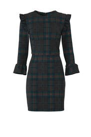 Plaid Fit And Flare Dress by J.O.A.