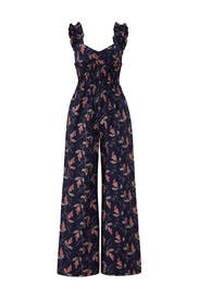 Sleeveless Ivie Floral Jumpsuit by Rebecca Taylor