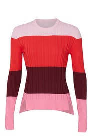 Pink Colorblock Sweater by Tome