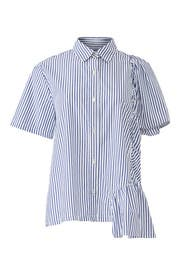 Striped Ruffle Detail Shirt by Clu