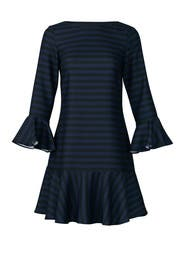 Striped Flounce Dress by Sail to Sable