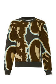Multi Abstract Sweatshirt by Carven