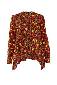 Long Sleeve Floral Top by Proenza Schouler