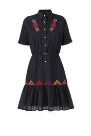 Black Natalie Shirtdress by CAROLINA K