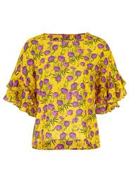 Floral Sienna Top by DELFI Collective