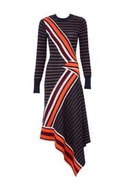 Petrol Mix Knit Dress by Temperley London