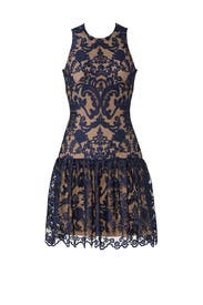 Midnight Lace Dress by ML Monique Lhuillier