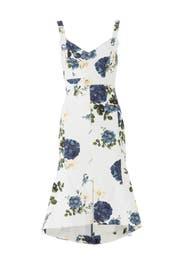 Denim Rose Flare Dress by Nicholas