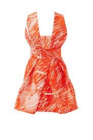 Scribble Print Cross Back Dress by Milly