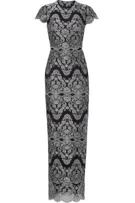 Metallic Godiva Gown by CATHERINE DEANE