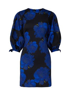 Blue Brocade Dress by Cynthia Rowley