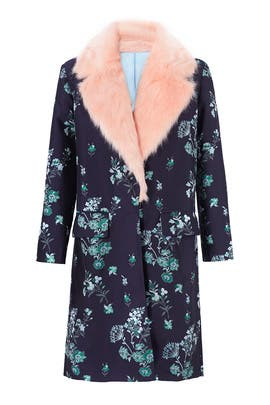 Floral Printed Combo Coat by Endless Rose