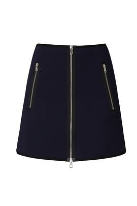 Exposed Zipper Mini Skirt by KF/KaufmanFranco Collective