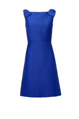 Blue Double Bow Structured Dress by kate spade new york