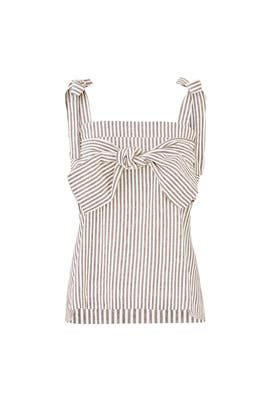 The Shoulder Front Tie Top by Moon River