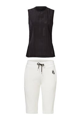 Essential Black Tank and White Short by Nike