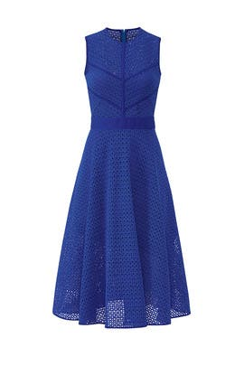 Cut Out Lace Midi Dress by PINKO