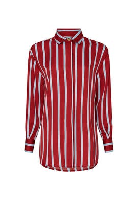 Red Stripe Top by Sweet Baby Jamie