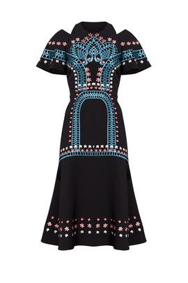 Embroidered Daisy Midi Dress by Temperley London