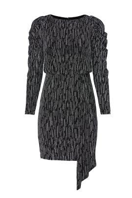 Metallic Puff Sleeve Sequin Dress by Aidan AIDAN MATTOX