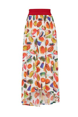 Fruit Printed Midi Skirt by Aldomartins